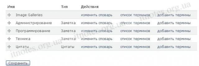 """Типы материалов: Созданный словарь """"Цитаты"""""""